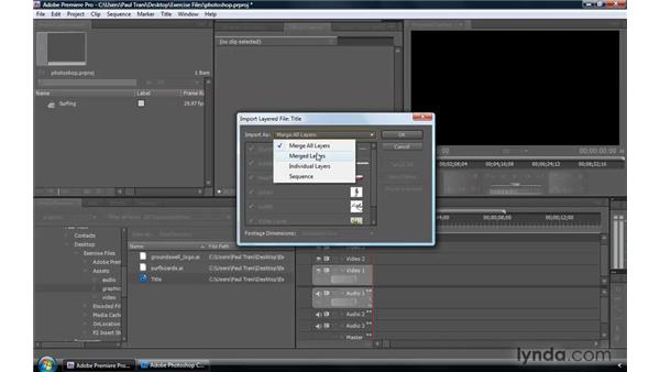 Enhanced integration with Photoshop: Premiere Pro CS4 New Features