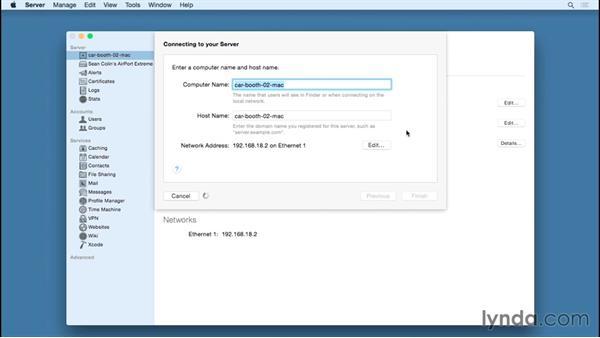 Naming your server: OS X Server Essential Training: Yosemite Edition