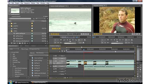 Inserting clips with precision control: Premiere Pro CS4 New Features
