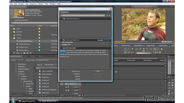 Transcription and Speech Search: Premiere Pro CS4 New Features