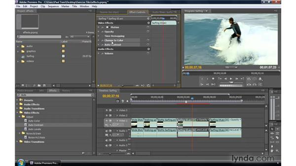 Advanced use of effects: Premiere Pro CS4 New Features