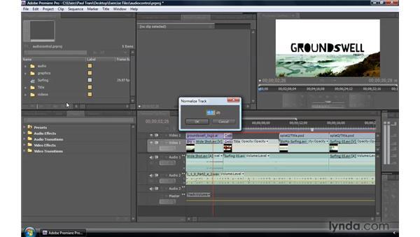 Normalizing audio: Premiere Pro CS4 New Features