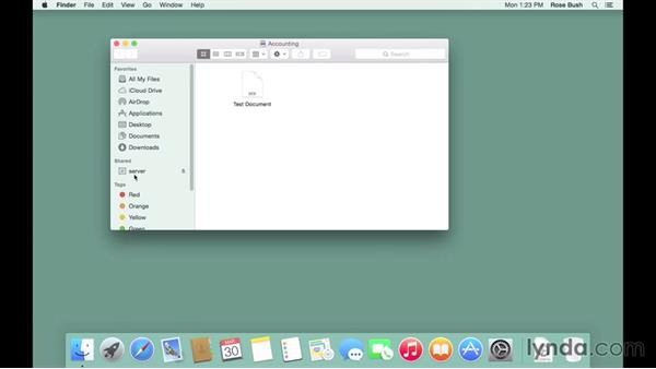 Exploring file-sharing methods: OS X Server Essential Training: Yosemite Edition