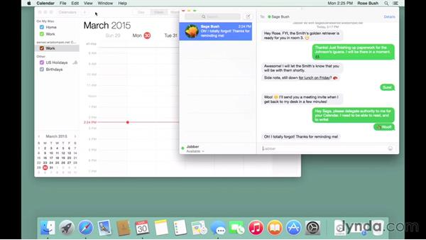 Scheduling with calendars: OS X Server Essential Training: Yosemite Edition