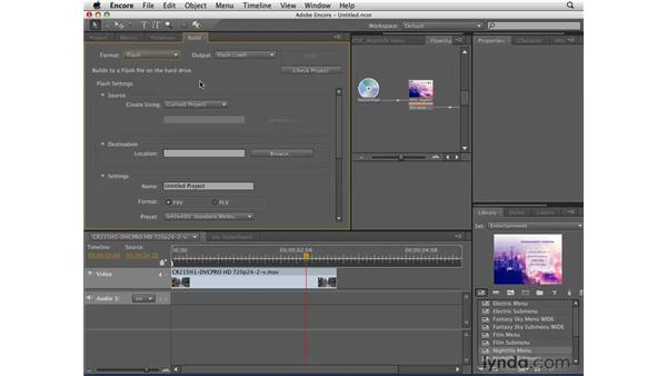 Introduction to exporting: Encore CS4 Essential Training