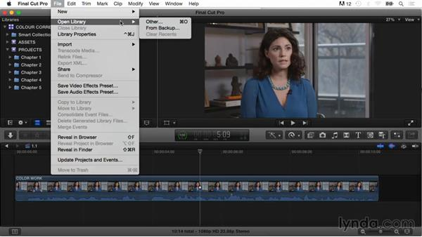 Using the exercise files: Final Cut Pro X Guru: Color Correction