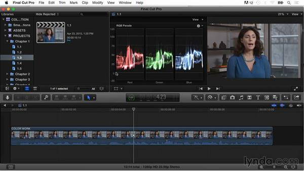 An overview of the color correction workflow: Final Cut Pro X Guru: Color Correction