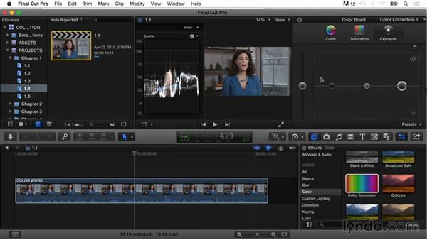 Shadows, midtones, and highlights: Final Cut Pro X Guru: Color Correction