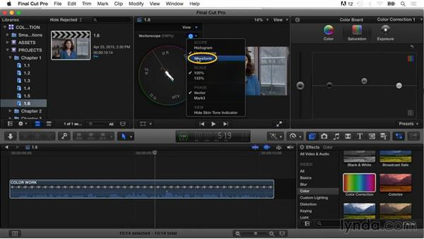 Adjusting saturation and color: Final Cut Pro X Guru: Color Correction