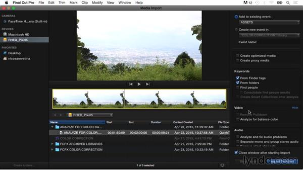 Analyzing for white balance on import: Final Cut Pro X Guru: Color Correction