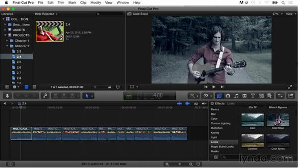Applying look effects: Final Cut Pro X Guru: Color Correction