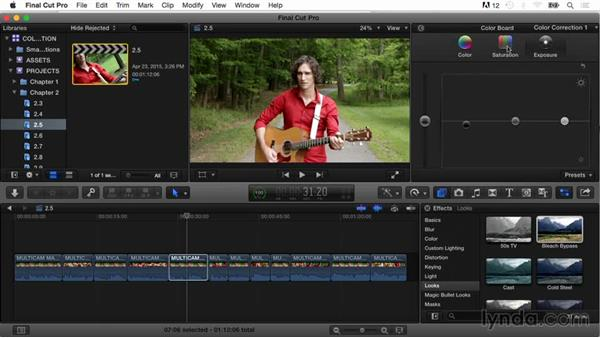 Applying color board presets: Final Cut Pro X Guru: Color Correction