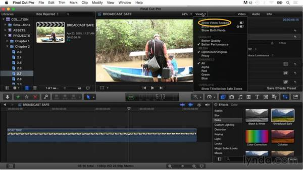 The Broadcast Safe effect: Final Cut Pro X Guru: Color Correction