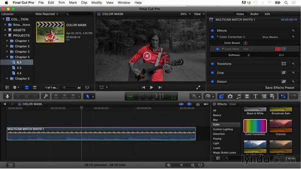Adding color masks: Final Cut Pro X Guru: Color Correction