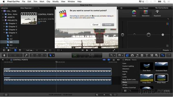 Working with control points: Final Cut Pro X Guru: Color Correction