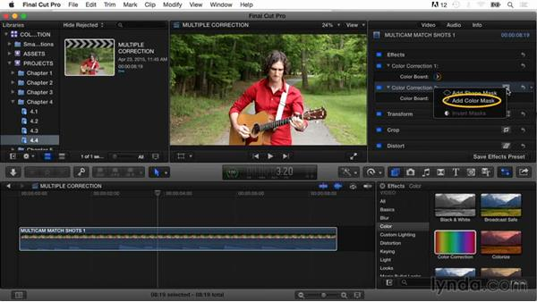 Working with multiple corrections: Final Cut Pro X Guru: Color Correction