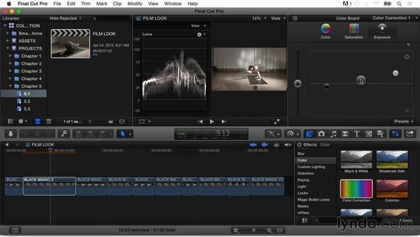 Applying a film look: Final Cut Pro X Guru: Color Correction