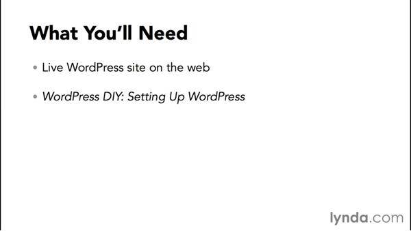 What you'll need to follow this course: WordPress DIY: Small Business Website