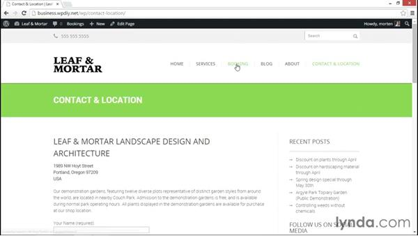 A preview of the final site: WordPress DIY: Small Business Website