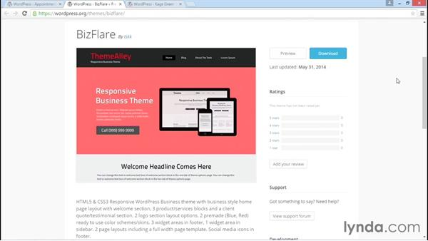Roundup of suitable themes: WordPress DIY: Small Business Website