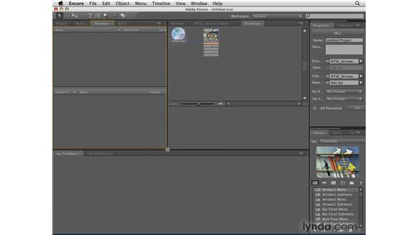 A quick look at the interface: Encore CS4 Essential Training
