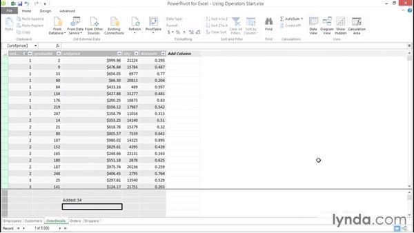 Utilizing operators: Excel Power Pivot DAX in Depth