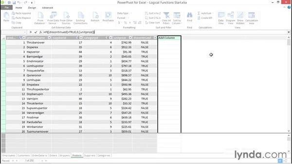 Using logical functions: Excel Power Pivot DAX in Depth