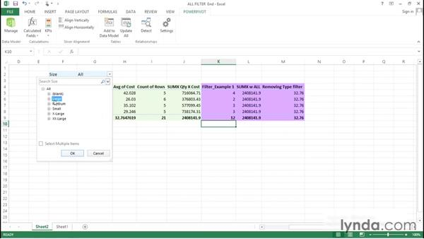 Exploring FILTERS and the ALL functions: Excel Power Pivot DAX in Depth