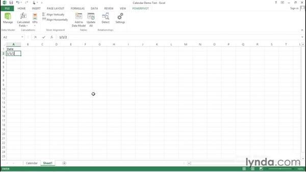 Sourcing calendars: Excel Power Pivot DAX in Depth