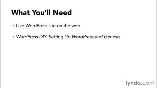 What you'll need to follow this course: WordPress and Genesis DIY: Small Business Website