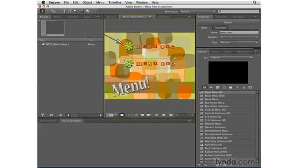 Editing menus: Encore CS4 Essential Training