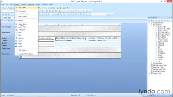 Customizing your address block: Crystal Reports 2013: Linking, Nulls, and Letter Writing