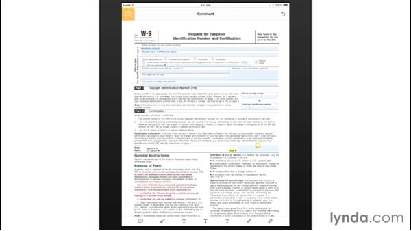 Viewing and marking up PDF documents: Mobile for Business: Using Productivity Apps