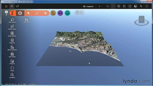 Navigating with the mouse: InfraWorks Essential Training