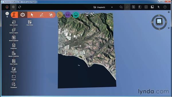 Navigating with the ViewCube: InfraWorks Essential Training