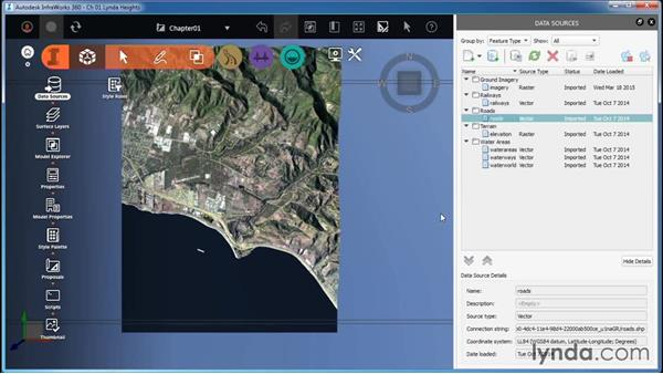 Navigating by selection: InfraWorks Essential Training