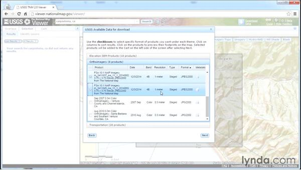 Retrieve data from the National Map Viewer: InfraWorks Essential Training