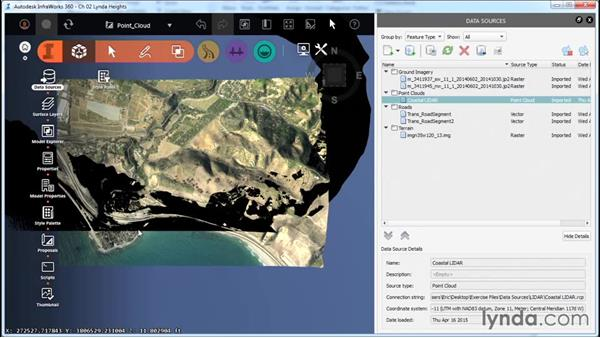 Import point cloud data: InfraWorks Essential Training
