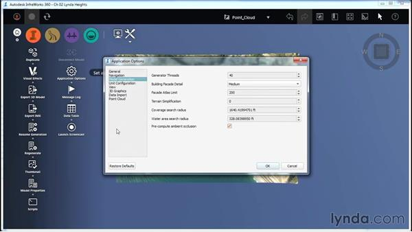 Exploring the Application Options: InfraWorks Essential Training