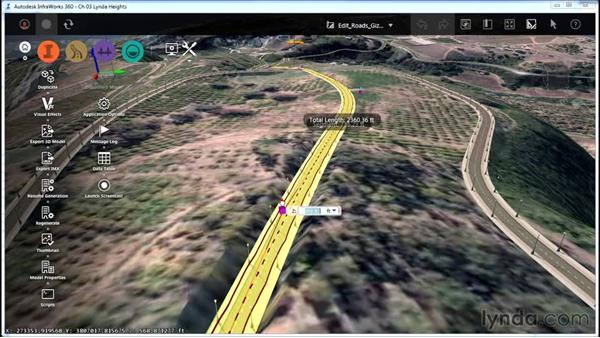 Editing roads with gizmos: InfraWorks Essential Training