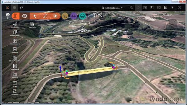 Editing roads with right-click menus: InfraWorks Essential Training