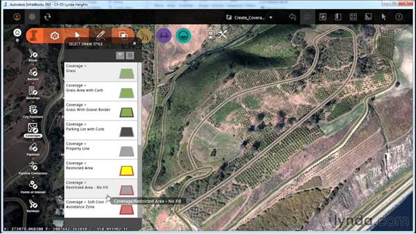 Creating coverages: InfraWorks Essential Training