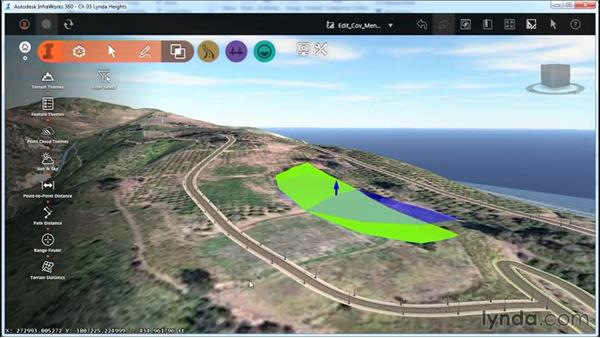 Editing coverages with right-click menus: InfraWorks Essential Training