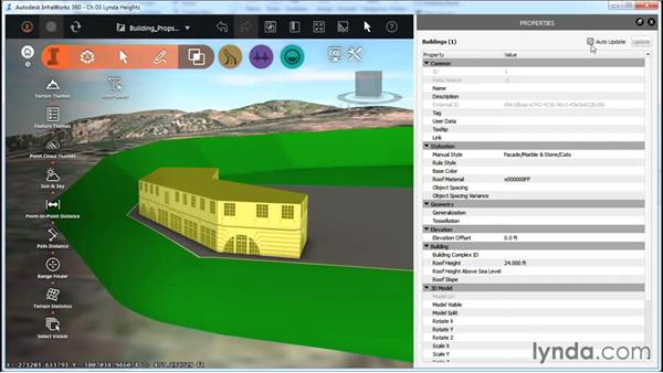 Editing building properties: InfraWorks Essential Training