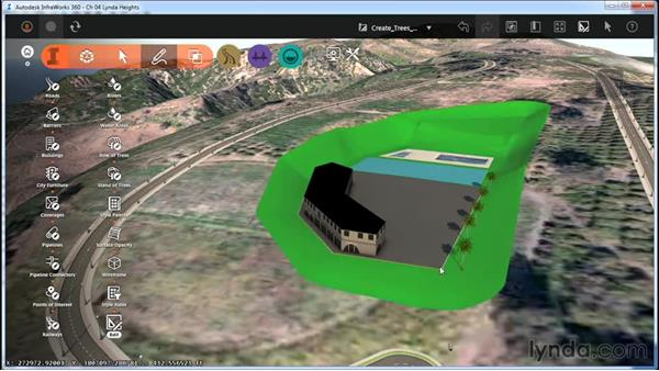 Creating trees: InfraWorks Essential Training