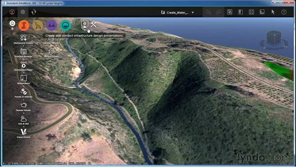 Creating water features: InfraWorks Essential Training