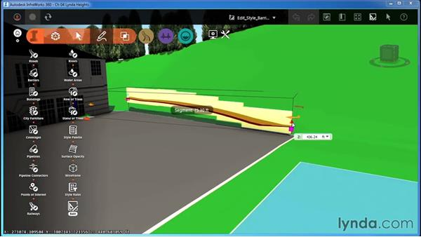 Editing style-based barriers: InfraWorks Essential Training