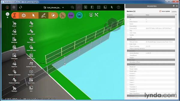 Editing 3D-model-based barriers: InfraWorks Essential Training