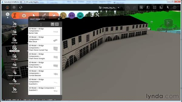 Creating city furniture: InfraWorks Essential Training
