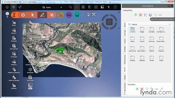 Understanding the Style Palette: InfraWorks Essential Training